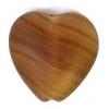 Glass Pressed Beads 10x10mm Heart Brown Stripe Matt